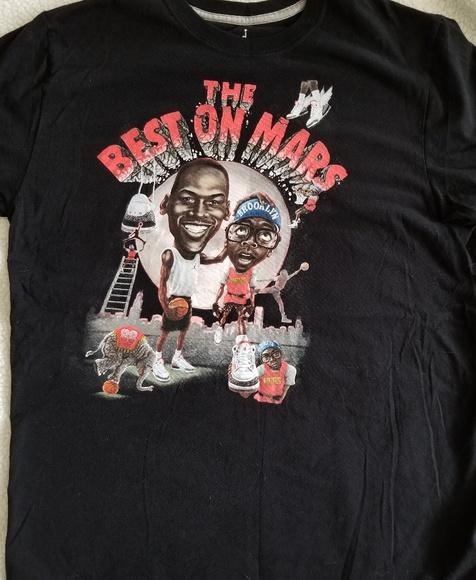 Retro Jordan Best On Mars Mens Tshirt L